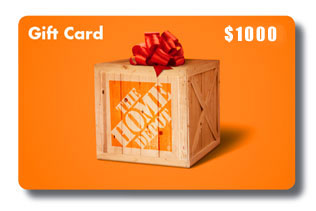 Win A 1000 Home Depot Gift Card